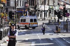 London riots aftermath, Clapham Junction Royalty Free Stock Images