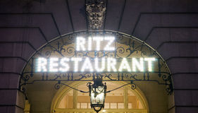 London Ritz Hotel at Night Royalty Free Stock Image