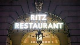 London Ritz Hotel at Night Royalty Free Stock Image