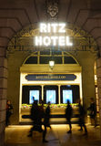 London Ritz Hotel at Night Stock Images