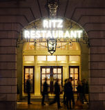 London Ritz Hotel at Night Royalty Free Stock Photos