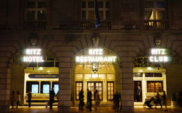 London Ritz Hotel at Night Royalty Free Stock Images