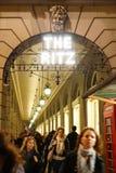 London Ritz Hotel at Night Royalty Free Stock Photography
