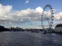 London. River  sky  cloudy  buildings   atmosphere  ambience Royalty Free Stock Image