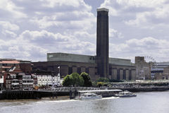 London river thames bankside Royalty Free Stock Photo
