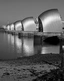 London River Thames barrier. Flood defenses Stock Images