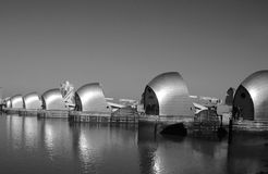 London River Thames barrier Stock Image