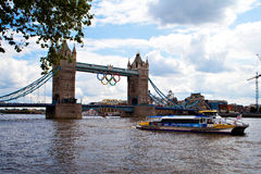 London river thames tower bridge london Royalty Free Stock Image