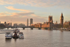 London  river Thames House Parliament Stock Photography
