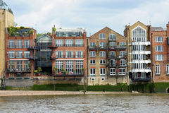 London riverfront apartments Stock Images