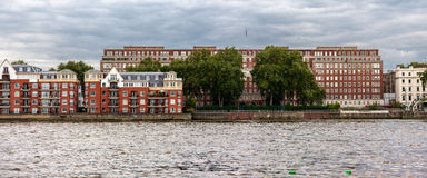 London Riverside Panorama Royalty Free Stock Images