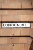 London Road Street Sign Stock Photography