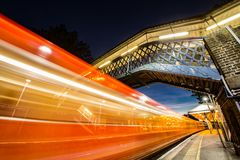 London Road train station Guildford Surrey England royalty free stock photos