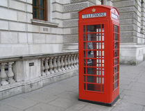 London-rote Telefonzelle Stockfoto