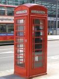 London-rote Telefonzelle Lizenzfreie Stockbilder