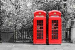 London-rote Telefonzellen Lizenzfreie Stockfotografie