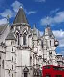 London, Royal Courts of Justice. In the Strand Royalty Free Stock Image