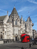 London, Royal Courts of Justice. On the Strand Royalty Free Stock Photo