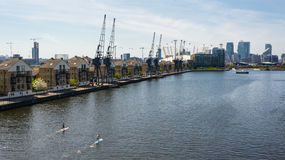 The London Royal Docks situated in East London, UK royalty free stock photo