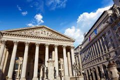 London Royal exchange building financial district Stock Image