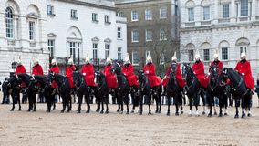 London Royal guards on horses Royalty Free Stock Photo