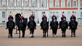 London Royal guards on horses Royalty Free Stock Photos