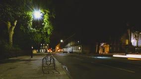 London Russell Square vid natt A arkivfoto