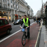 London's bicycle sharing scheme Stock Images