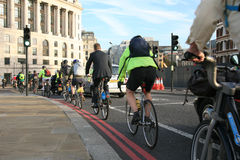 London's bicycle sharing scheme Royalty Free Stock Photo