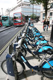London's bicycle sharing scheme Stock Photos