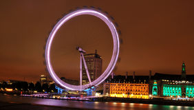Londons Eye. The famous Londons Eye by night Royalty Free Stock Images