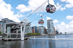 London's first cable car opens. Stock Image