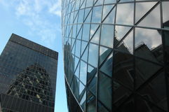 London's Gherkin Skyscraper II Royalty Free Stock Image