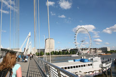 London's Golden Jubilee Bridge Royalty Free Stock Photo