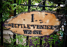 London's Little Venice label Royalty Free Stock Photo