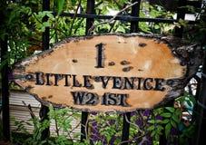London's Little Venice label Royalty Free Stock Photo
