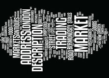 London S Markets Text Background  Word Cloud Concept Royalty Free Stock Images