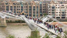 London's Millennium Footbridge Royalty Free Stock Photos
