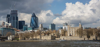 London's Modern and Historic Skyline Stock Image