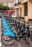 London's new bike hire  scheme. Royalty Free Stock Images