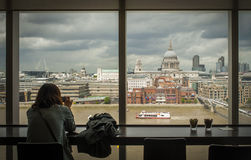 London's panorama from Tate Modern Stock Image