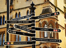 London's Signs. The image shows London's signs Royalty Free Stock Photo