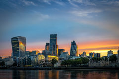 London's skyline at sunrise Royalty Free Stock Photo