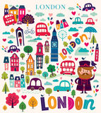 London's symbols Royalty Free Stock Photo