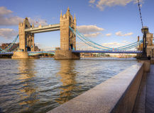 London's Tower Bridge bathed in sunlight Royalty Free Stock Images