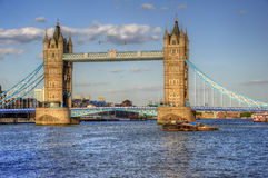 London's Tower Bridge bathed in sunlight Royalty Free Stock Photos