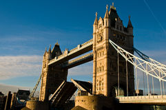 London's Tower Bridge - Opened Stock Photo