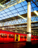 The London's Train. The Trains Terminal in London in a sunny day Stock Image