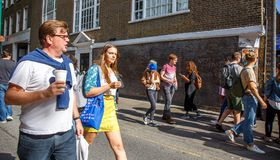 People on the street in London. Stock Photos