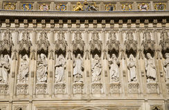 London - saints from Westminster abbey Royalty Free Stock Photography
